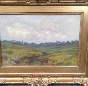 Paesaggio, olio su tela del 1923, 40cm per 60cm.