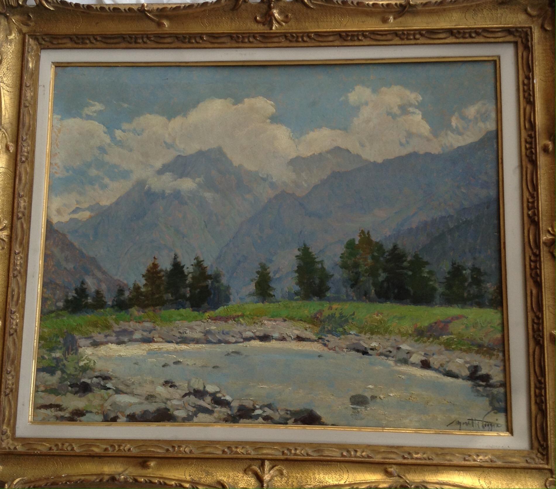 Luminosissimo olio su tavola raffigurante laghetto di for Moretti foggia pittore